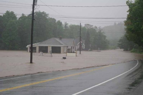 Tropical Storm Irene Floods the Wells Memorial Library in Upper Jay