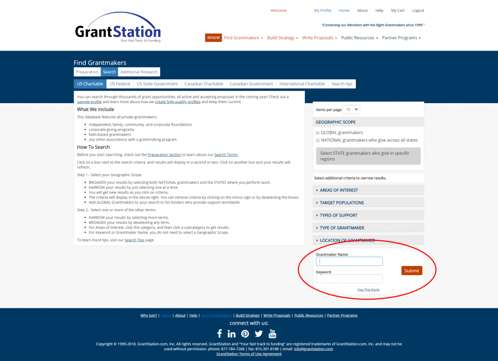 GrantStation Search 1