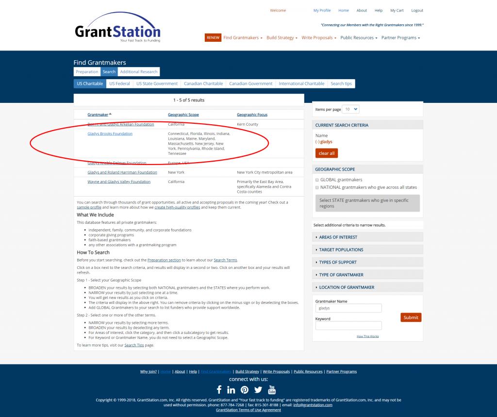 GrantStation Search 2