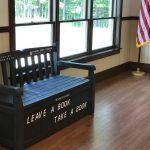 Book bench in Minerva, NY