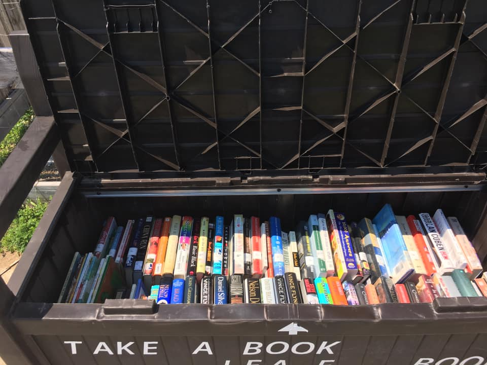 Book bench at the Ted K Center in Plattsburgh.