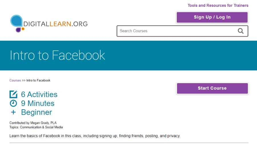 DigitalLearn Facebook Course
